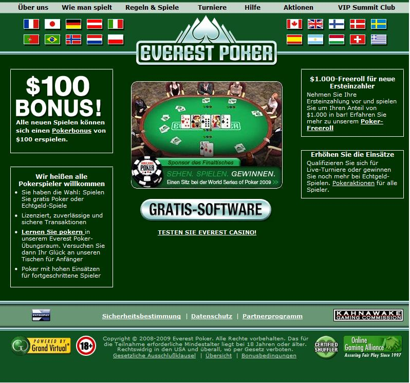 everest poker spielgeld